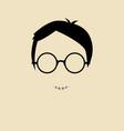 nerd boy vector image vector image