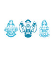 oktoberfest people man and woman silhouettes vector image