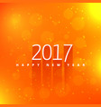 orange background with 2017 text style effect vector image vector image