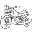 outlined motorcycle vector image vector image
