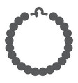 pearls bracelet glyph icon jewelry and accessory vector image vector image