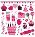 pink decorations vector image vector image