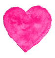 Pink Watercolor Heart vector image vector image