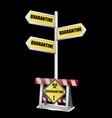 quarantine sign-001 vector image vector image