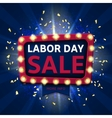 Retro label for labor day sale vector image vector image