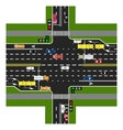 Road infographics The highway intersects with the vector image vector image