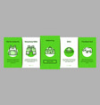 safari travel onboarding elements icons set vector image vector image