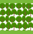 seamless texture of cartoon flat tree on white vector image vector image