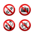 set prohibited signs - airport vector image vector image