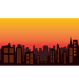 Silhouette of city colorful vector image vector image