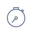 simple stopwatch icon in line art style symbol of vector image
