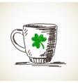 Sketch of mug vector image