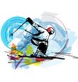 Skiing sketch vector image vector image