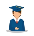 student graduated avatar isolated vector image vector image