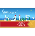 Summer Sale Ninety percents vector image vector image