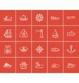 Transportation sketch icon set vector image vector image