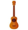 ukulele on white background vector image vector image
