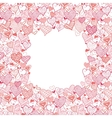 Valentines Day Frame With Hearts Seamless Pattern vector image