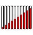 vertical progress loading bars progress vector image vector image