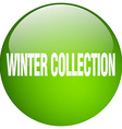 winter collection green round gel isolated push vector image vector image