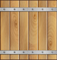 Wooden background with metal crossbar vector image