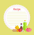yellow circle recipe decorated vegetable vector image