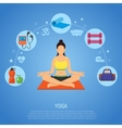 Yoga and Fitness Concept vector image vector image