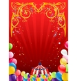 Festive circus background vector image