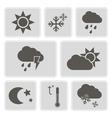 monochrome weather icons vector image