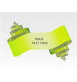 green abstract scroll paper design vector image
