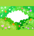 cartoon spring background with insects vector image