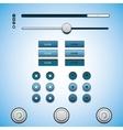 Web design elements set Clean Black vector image