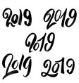 2019 new year set of hand lettering phrases on vector image