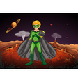 A powerful man in the outerspace vector image vector image