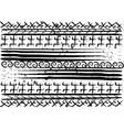 afro ethnic pattern handmade geometric symbols vector image vector image