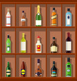 alcohol drinks collection vector image vector image