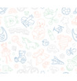 baby goods store seamless background pattern vector image vector image