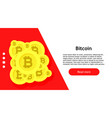 bitcoin internet symbol economy banking commerce vector image