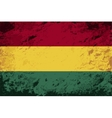 Bolivian flag Grunge background vector image vector image