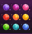 cartoon colorful jelly planets on space background vector image vector image