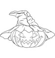 coloring pumpkin for halloween vector image vector image