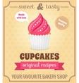 Cupcake retro poster vector image vector image