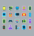 device patch sticker icons set vector image vector image
