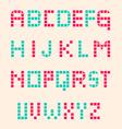 Digital Alphabet Set vector image