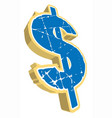 dollar sign vector image