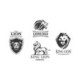 emblems with lions vector image