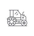 farm tractor line icon concept farm tractor vector image vector image