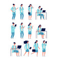 female doctor woman medical worker health manager vector image