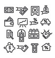 financial icon set vector image vector image
