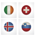 flags countries as fabric badges vector image vector image